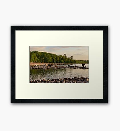 Awenda Beach, Ontario at the Golden Hour Framed Print