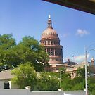Austin State Capitol in the Window by Jack McCabe