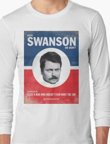 Vote For Ron Swanson Long Sleeve T-Shirt