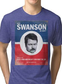 Vote For Ron Swanson Tri-blend T-Shirt