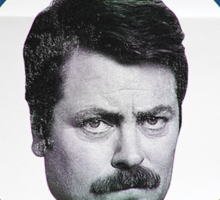 Vote For Ron Swanson Sticker