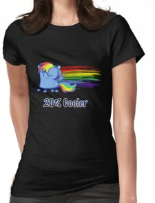 Marshmallow Rainbow Dash Womens Fitted T-Shirt