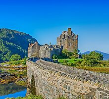 Eilean Donan Castle walkway by Chris Thaxter
