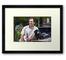 A Man & His Dog Framed Print