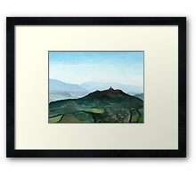 View of Todi in the morning Framed Print