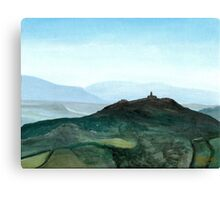 View of Todi in the morning Canvas Print