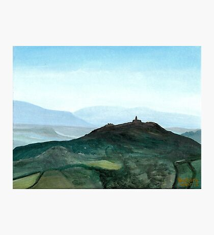 View of Todi in the morning Photographic Print