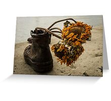 Sunflower Metal Boot Greeting Card