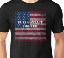 full contact fighter American flag design Unisex T-Shirt