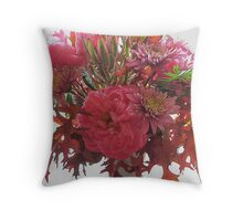 Autumn Mix with Imported Peonies Throw Pillow