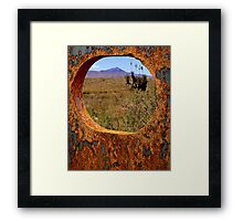 A Rustic View of Mount Violet Framed Print