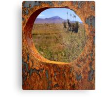A Rustic View of Mount Violet Metal Print