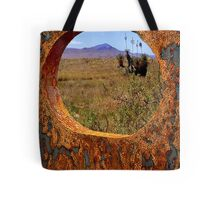 A Rustic View of Mount Violet Tote Bag