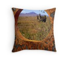 A Rustic View of Mount Violet Throw Pillow
