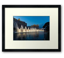 The Fabulous Fountains at Bellagio, Las Vegas Framed Print