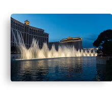 The Fabulous Fountains at Bellagio, Las Vegas Canvas Print