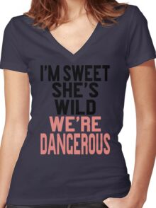 I'm Sweet She's Wild We're Dangerous (2 of 2) Women's Fitted V-Neck T-Shirt