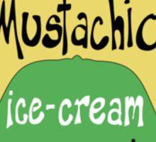 Mustachio Ice-cream Sticker