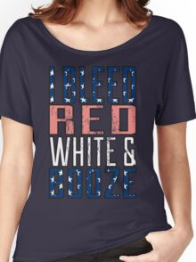 I Bleed Red White And Booze Women's Relaxed Fit T-Shirt