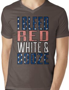 I Bleed Red White And Booze Mens V-Neck T-Shirt