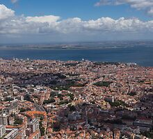 Flying Over Lisbon, Portugal by Georgia Mizuleva