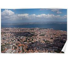 Flying Over Lisbon, Portugal Poster