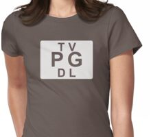 TV PG DL (United States) white Womens Fitted T-Shirt