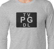 TV PG DL (United States) black Long Sleeve T-Shirt