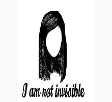 """I am not invisible"" Womens Fitted T-Shirt"