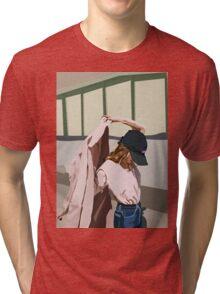 Pink Coat Tri-blend T-Shirt