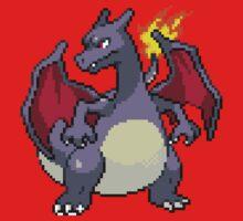 Pixel Shiny Charizard by Flaaffy