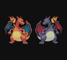 Pixel Charizards V.2 by Flaaffy