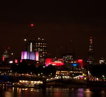 Royal Festival Hall and the Shard  by santinopani