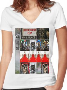 Melbourne cup Women's Fitted V-Neck T-Shirt