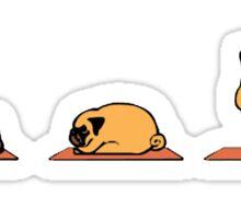 Yoga Pug Dog Funny Cute GYM Tumblr Sticker