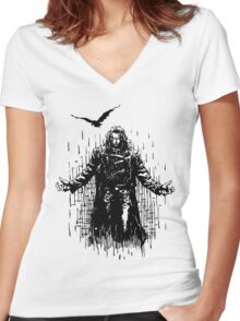 Zombie man T-Shirts & Hoodies Women's Fitted V-Neck T-Shirt