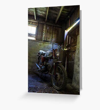 Old Cycle Greeting Card