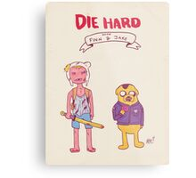 Die Hard with Finn and Jake Metal Print