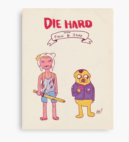 Die Hard with Finn and Jake Canvas Print