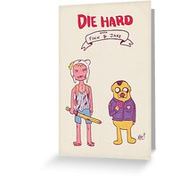 Die Hard with Finn and Jake Greeting Card