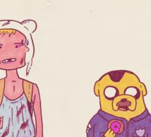 Die Hard with Finn and Jake Sticker