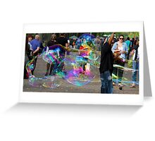 Bubbles in the park Greeting Card
