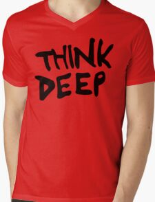 Hitchhiker's Guide to the Galaxy - Think Deep Mens V-Neck T-Shirt
