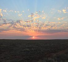 Outback Sunset - Australia   by RickLionheart