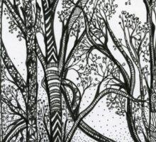 Farm Trees, An Ink Drawing Sticker