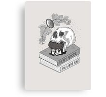 Heavy Books For A Heavy Heart Canvas Print