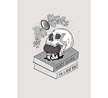 Heavy Books For A Heavy Heart Photographic Print