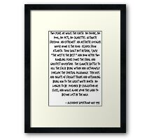 The West is Best Framed Print