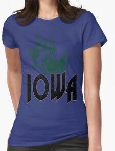 FISH IOWA VINTAGE LOGO Womens Fitted T-Shirt