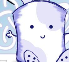 Blue Marshamallow Bunny Love  Sticker